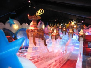 Ice Slide at ICE! Exhibit, Gaylord Palms, Kissimmee, Florida, Nov. 2009