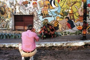 Children Pose for Photos in Havana, Cuba, Dec. 2003