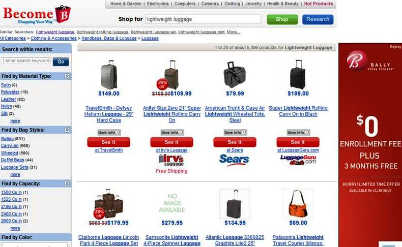 Shopping for Lightweight Luggage
