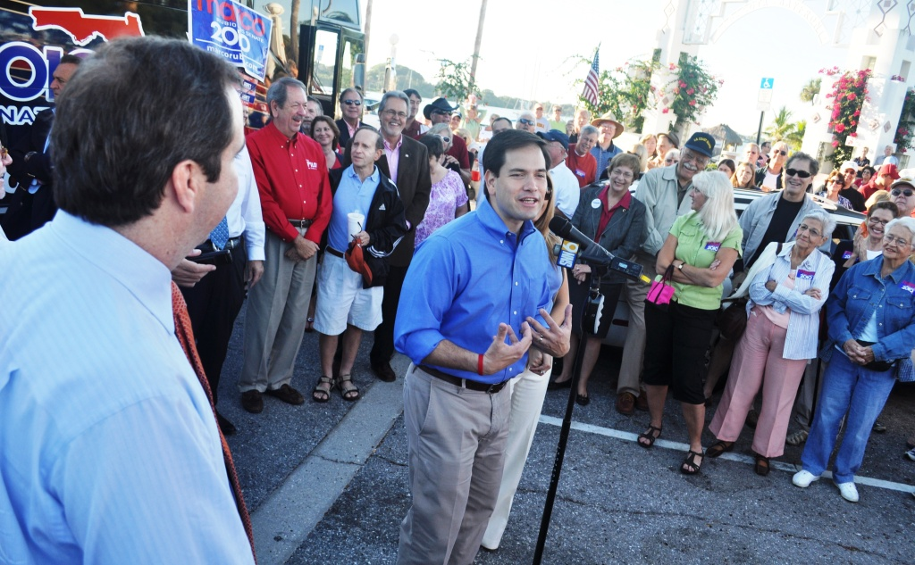 Marco Rubio, Republican Candidate for the U.S. Senate Campaigns in Sarasota, Fla.