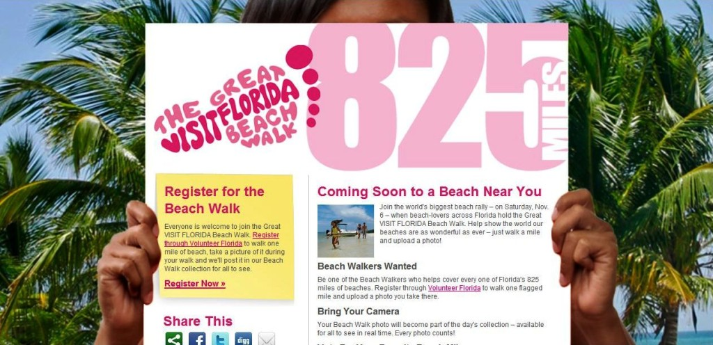 Register for The Great VISIT FLORIDA Beach Walk