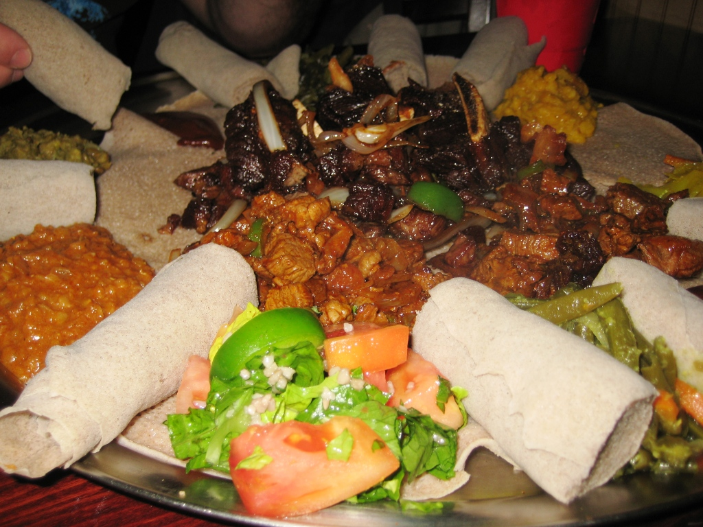 Dining at Queen of Sheba in Washington, D.C.