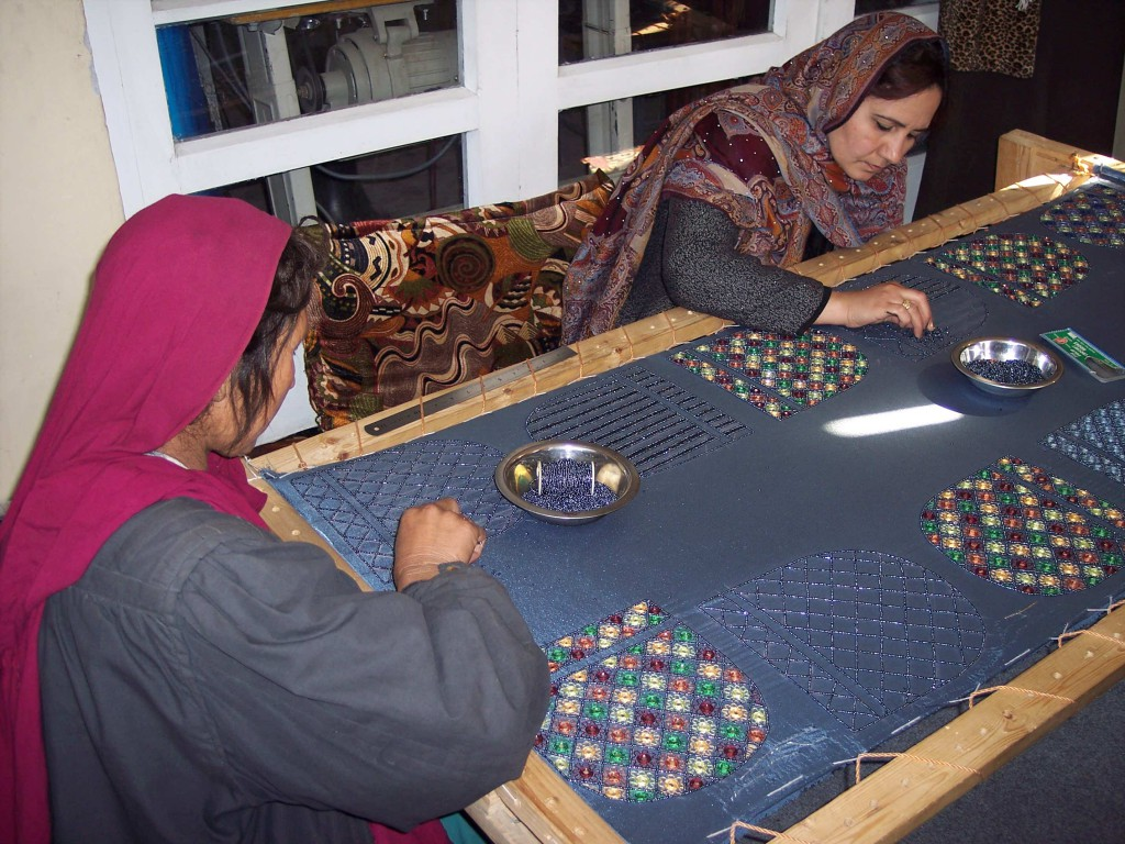 Women Making Purses at Women4Women, Kaubl, Afghanistan, March 2006