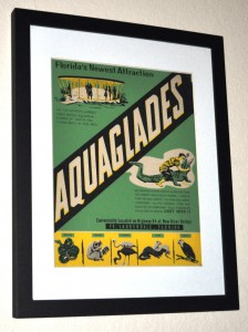 Aquaglades Poster I Found in an Antique Shop