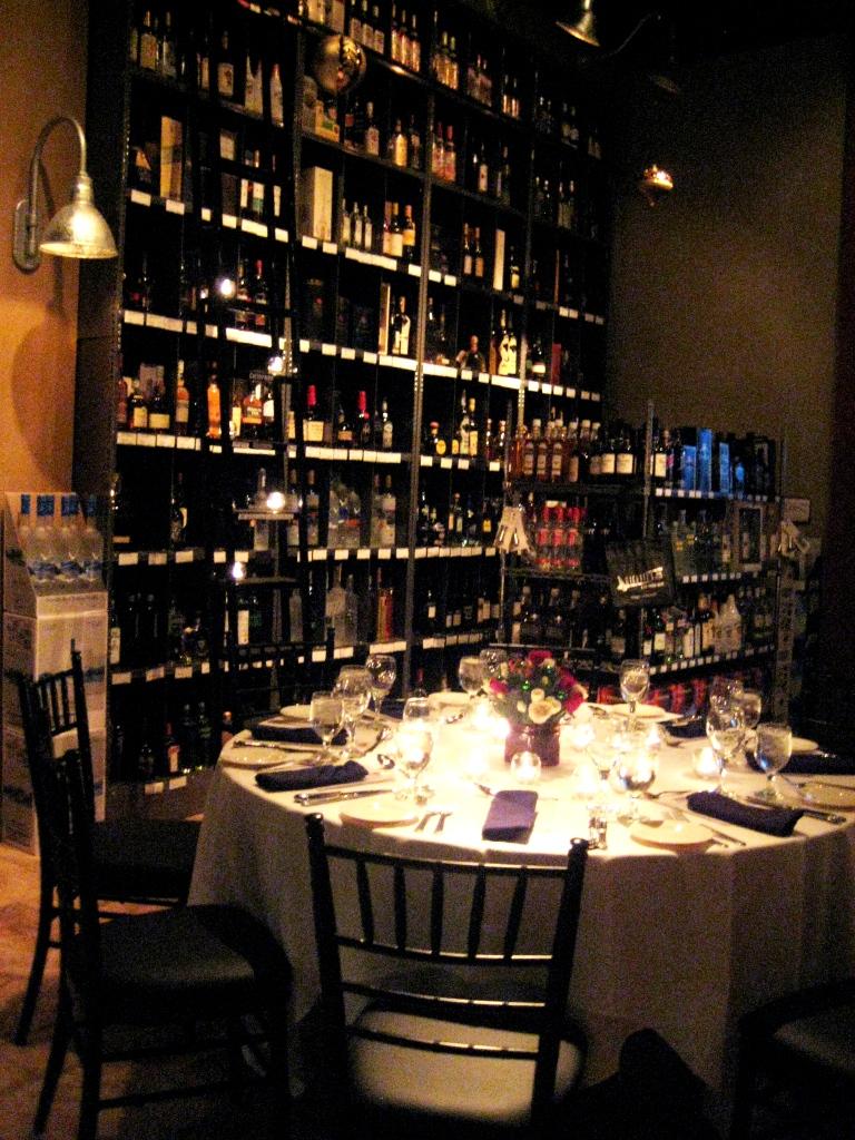 Pick Up a Bottle of Wine, Michael's Tasting Room, Sarasota, Fla., Dec. 2010