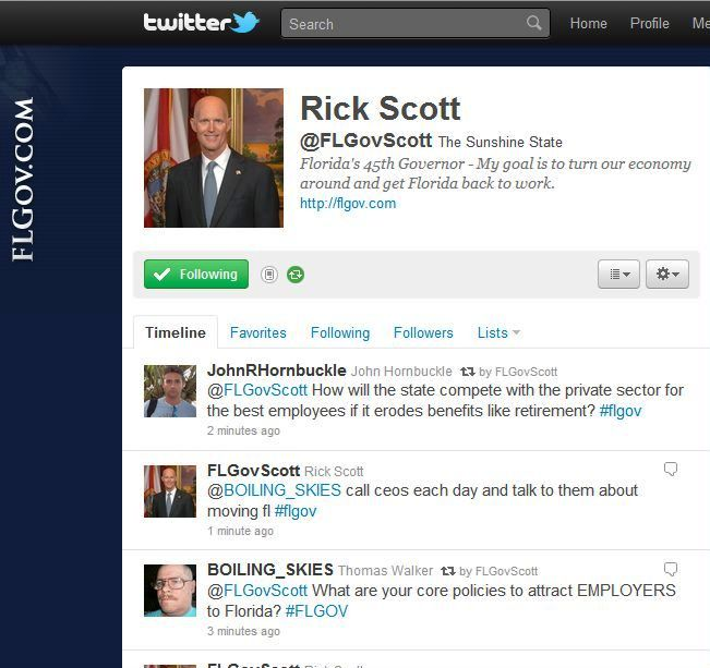 Dear Gov. Rick Scott: Careful What You Re-Tweet