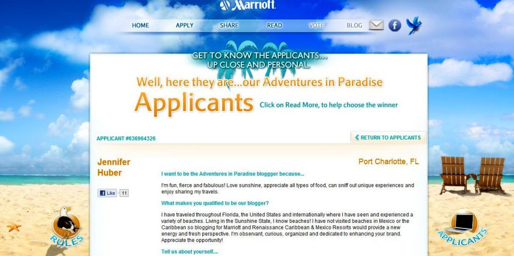 Marriott's Adventures in Paradise Blogging Contest
