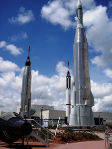 Rocket Garden at Kennedy Space Center, Fla.