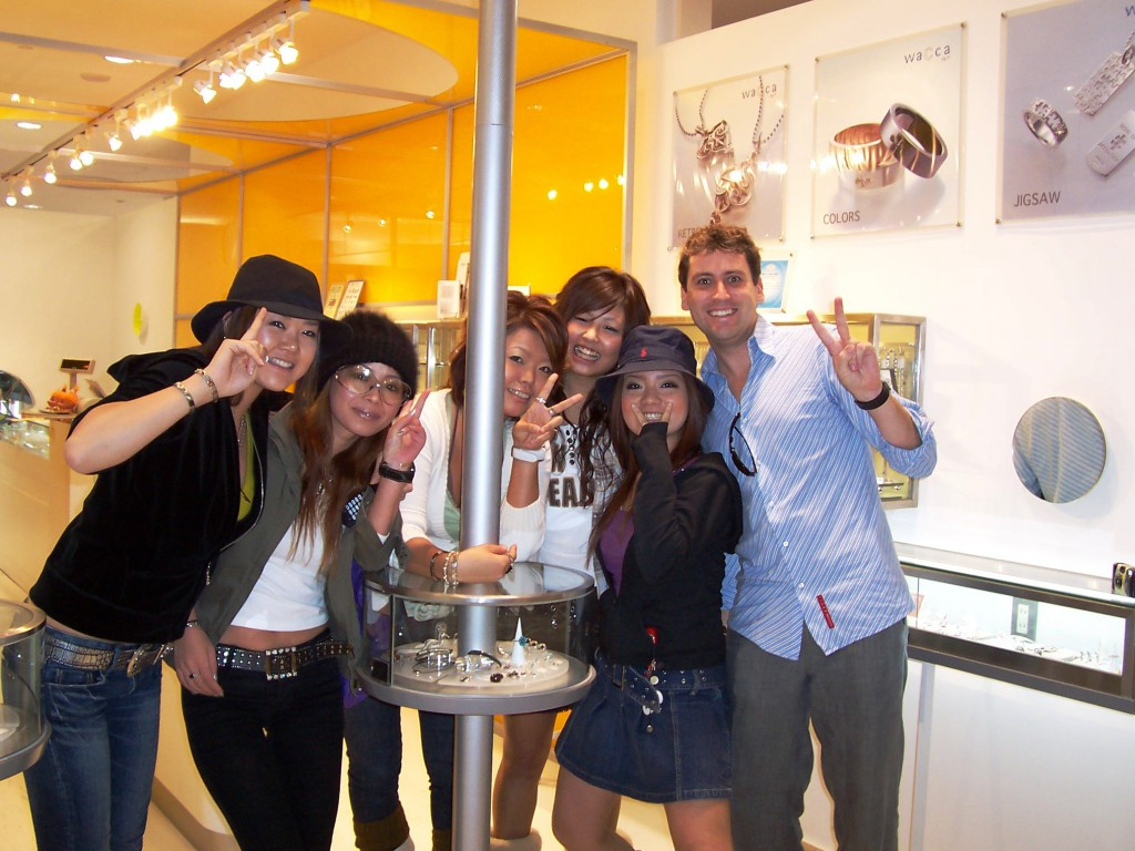 Matt was Popular with the Girls in Japan