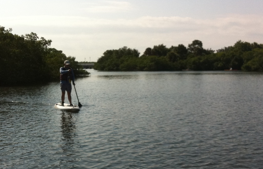 """David McRee, """"The Beach Hunter"""", Mastering Stand Up Paddleboarding from Grande Tours, Placida, Fla."""