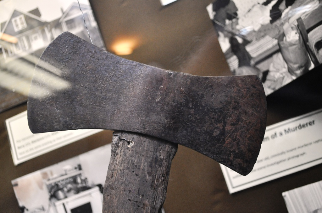 Ax Used in a Murder on Display at the Vancouver Police Museum, B.C.