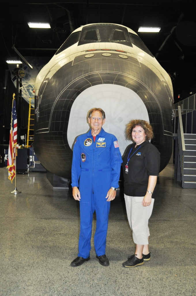 Meeting Astronaut Sam Durrance During the Astronaut Training Experience at Kennedy Space Center, Florida