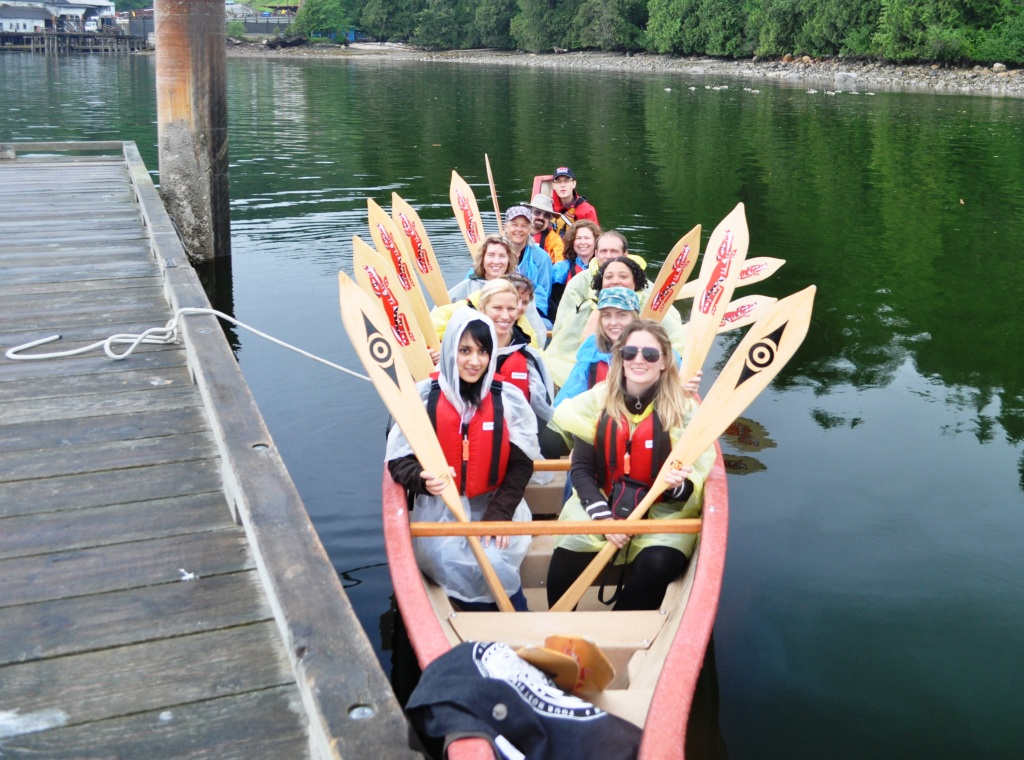 Group Eager to Paddle Burrard Inlet with Takaya Tours, Vancouver, B.C.