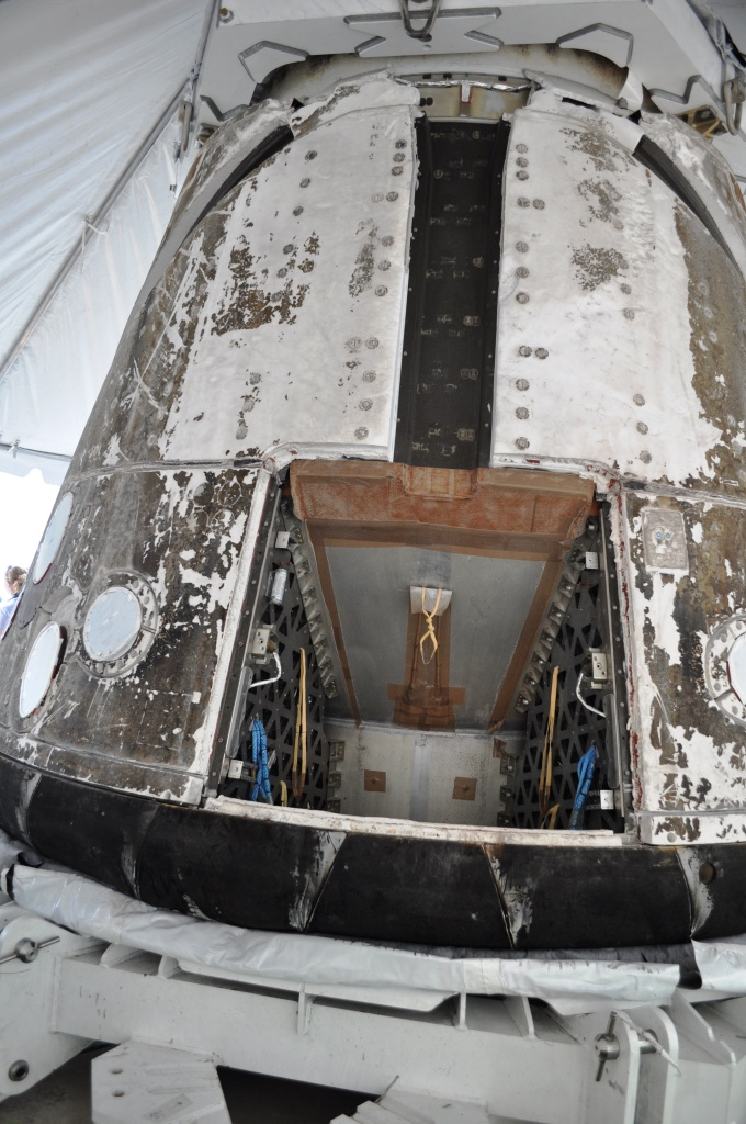 Hatch of SpaceX's Dragon Capsule, July 8, 2011