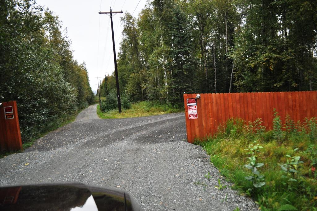 """Private Property"" Signs Greet Visitors of the Palin Compound in Wasilla, Alaska"