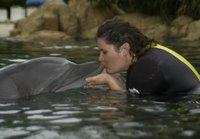 Swimming with a Dolphin at Discovery Cove, Florida
