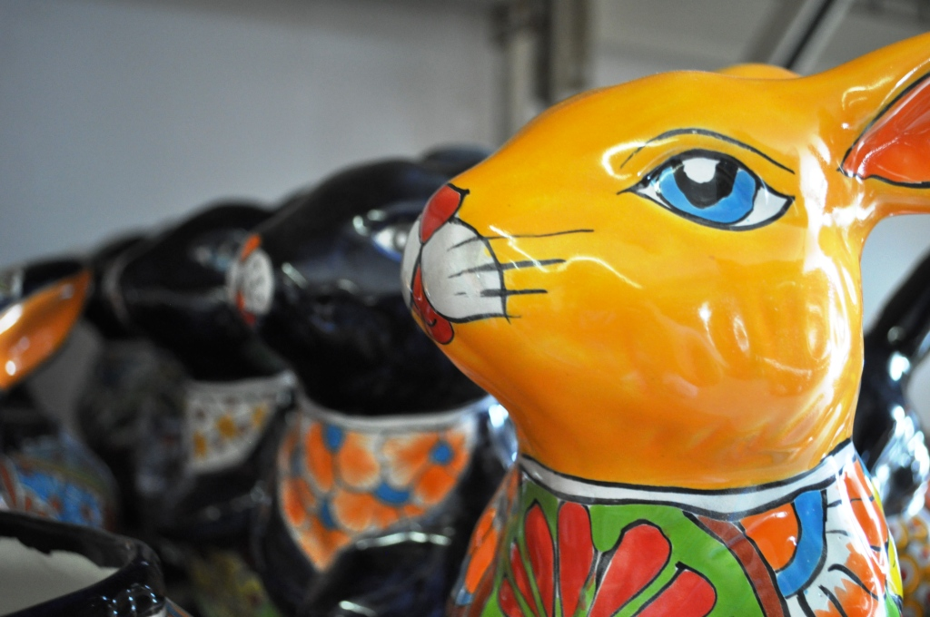 "These Rabit Planters from Mexico Had Me at ""Hello."" Pottery Express, Punta Gorda, Fla."