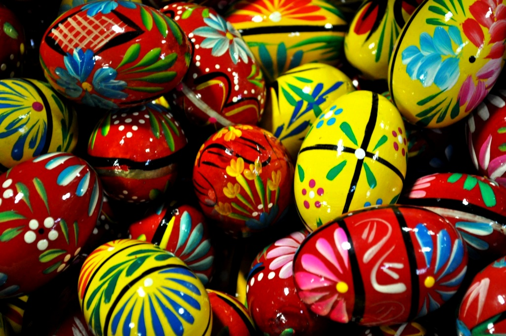 Carved Wooden Eggs from Poland, Broadway Market, Buffalo, N.Y., Dec. 23, 2011