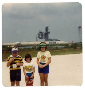 Me (Right) with My Brother and Sister at Kennedy Space Center, Summer 1981