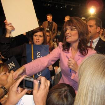 2008 Republican Vice President Candidate Sarah Palin During an Oct. 2008 Rally in Tampa, Fla.