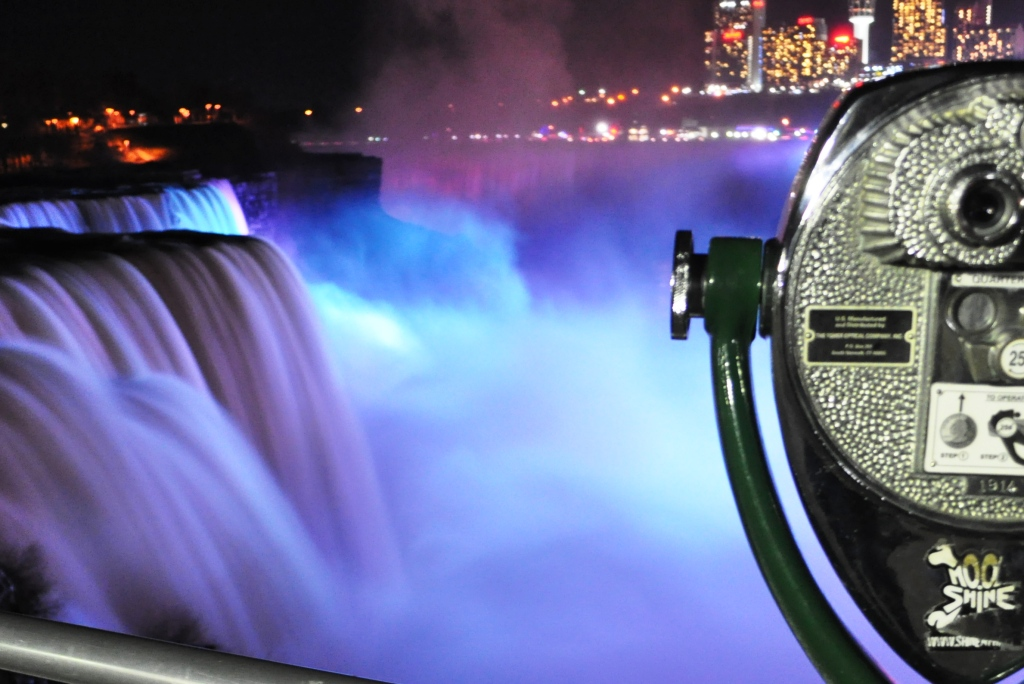 Wordless Wednesday: The Falls at Night Are Loud and Bright