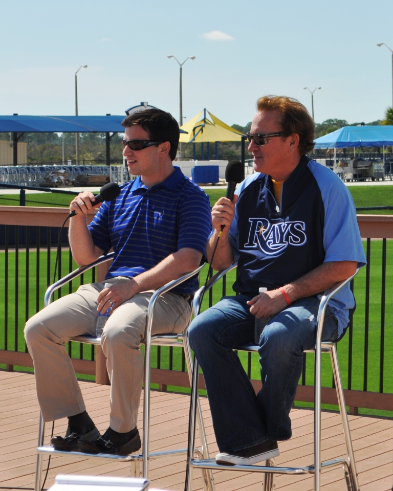 Andrew Friedman, Vice President of Baseball Operations, and Joe Maddon, Tampa Bay Rays Pre-Spring Training Press Conference, Port Charlotte, Fla., Feb. 20, 2012
