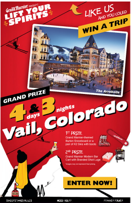 "Grand Marnier® Wants to ""Lift Your Spirits"" With Sweepstakes for 4-Day/3-Night Vail Ski Trip"