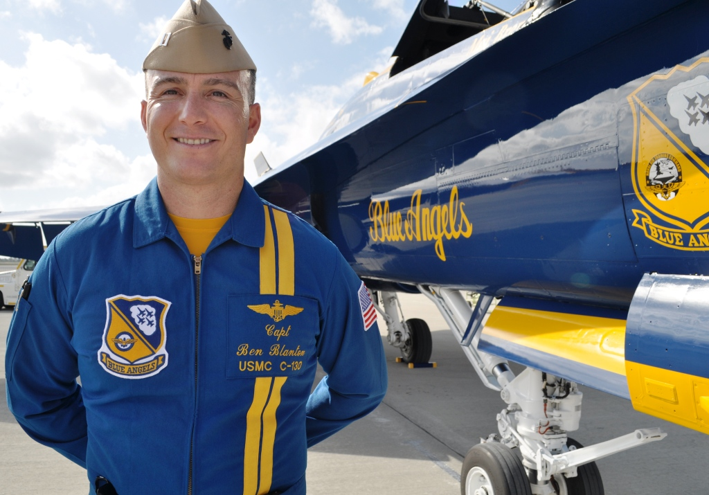 Capt. Benjamin Blanton U.S. Marine Corp. He Pilots the Lockheed Martin C-130 Hercules Cargo Plane Known as Fat Albert Airlines.