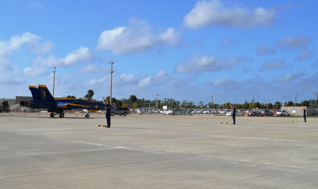 Blues' F/A-18 Hornet's Get in Position, Punta Gorda Airport, March 22, 2012