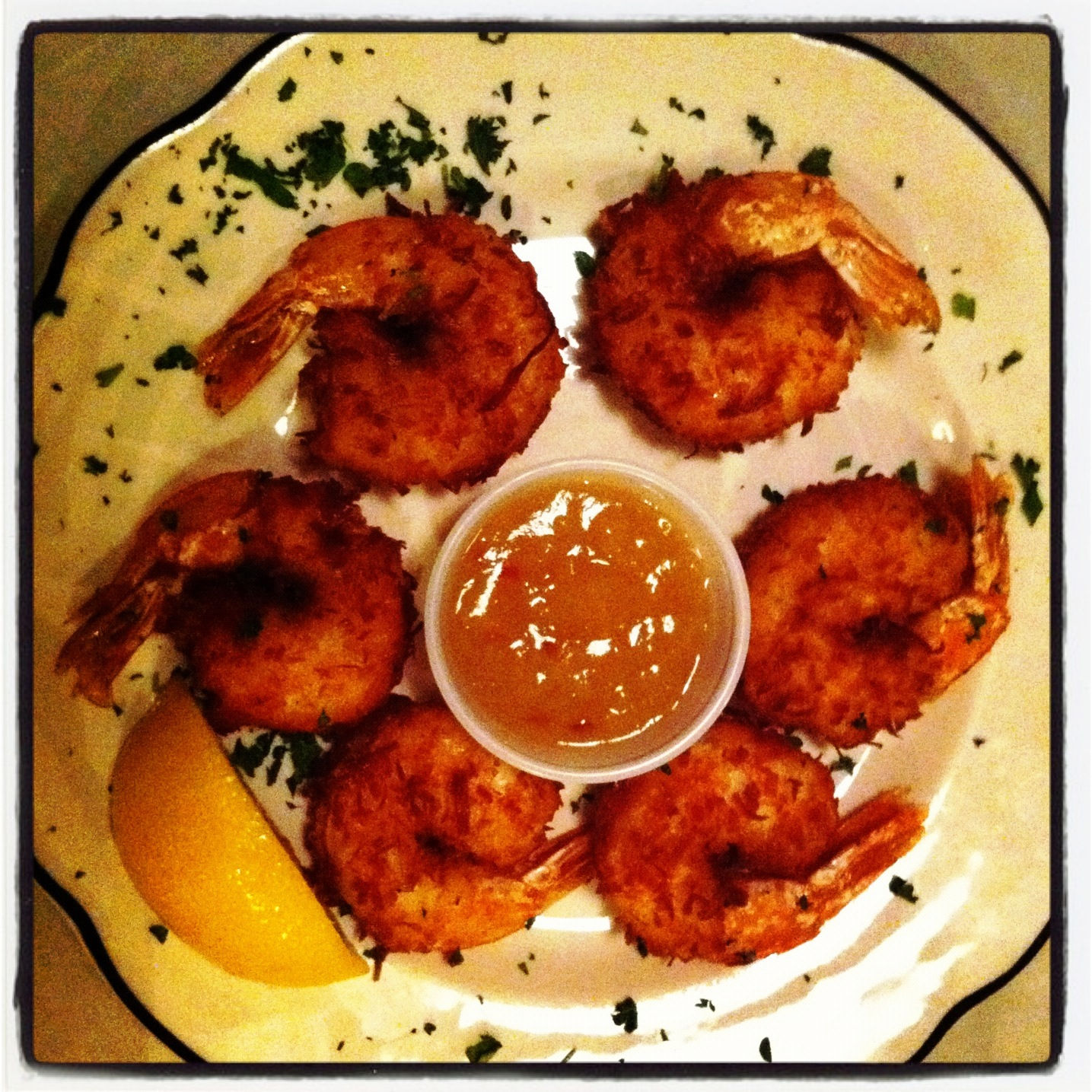 Coconut Fried Shrimp at Cap'n and the Cowboy, Port Charlotte, Fla.