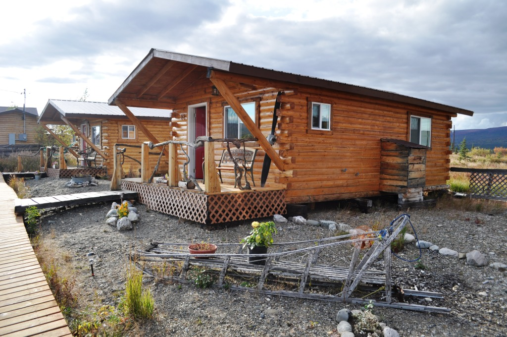 The Cabin I Stayed at EarthSong Lodge Near Denali National Park