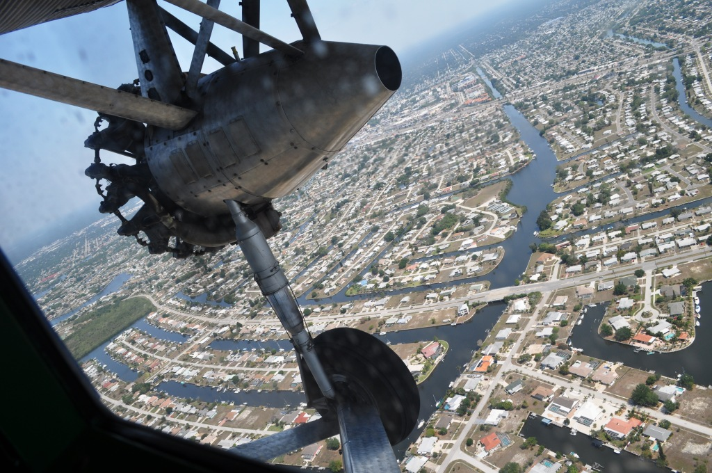Flying Above Punta Gorda, Florida, in a 1929 Ford Tri-Motor
