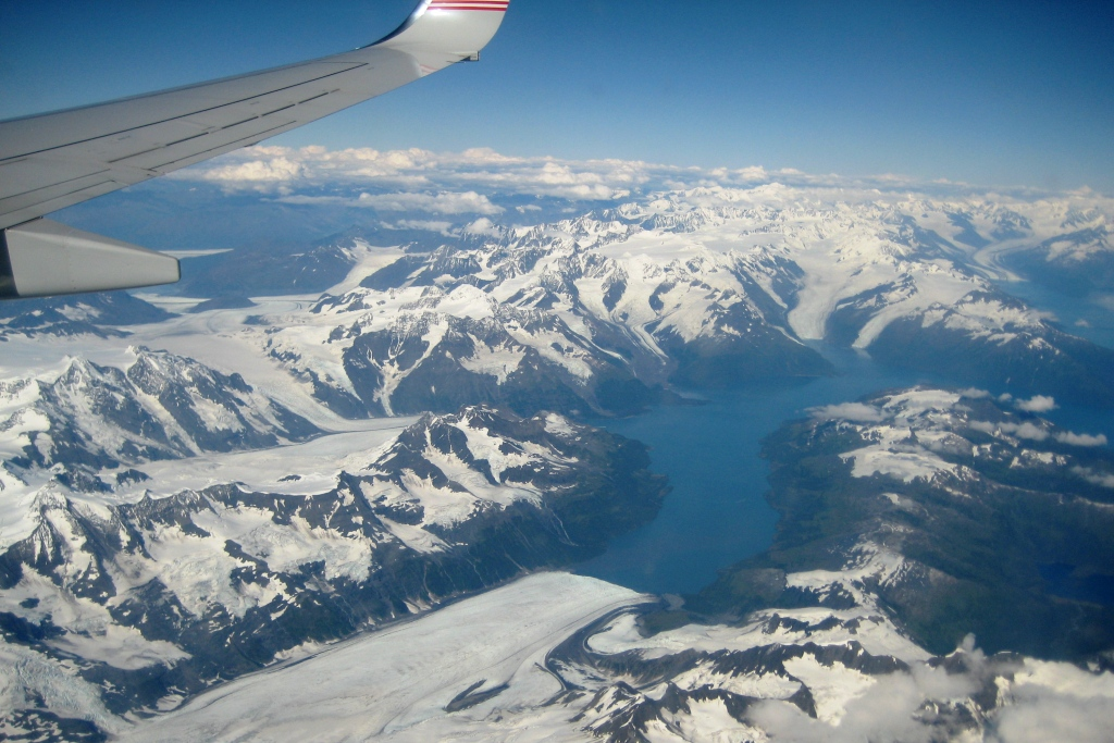 Flying into Anchorage, Alaska, Aug. 2011