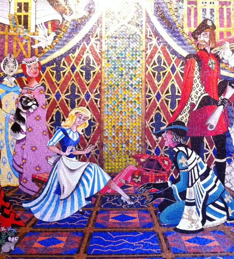 Gorgeous Mosaic in Cinderella's Castle, Magic Kingdom, Walt Disney World Resort, Fla.
