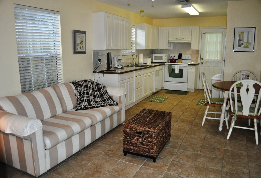 Kitchen and Living Area of Oasis Cottage, Mount Dora, Fla.