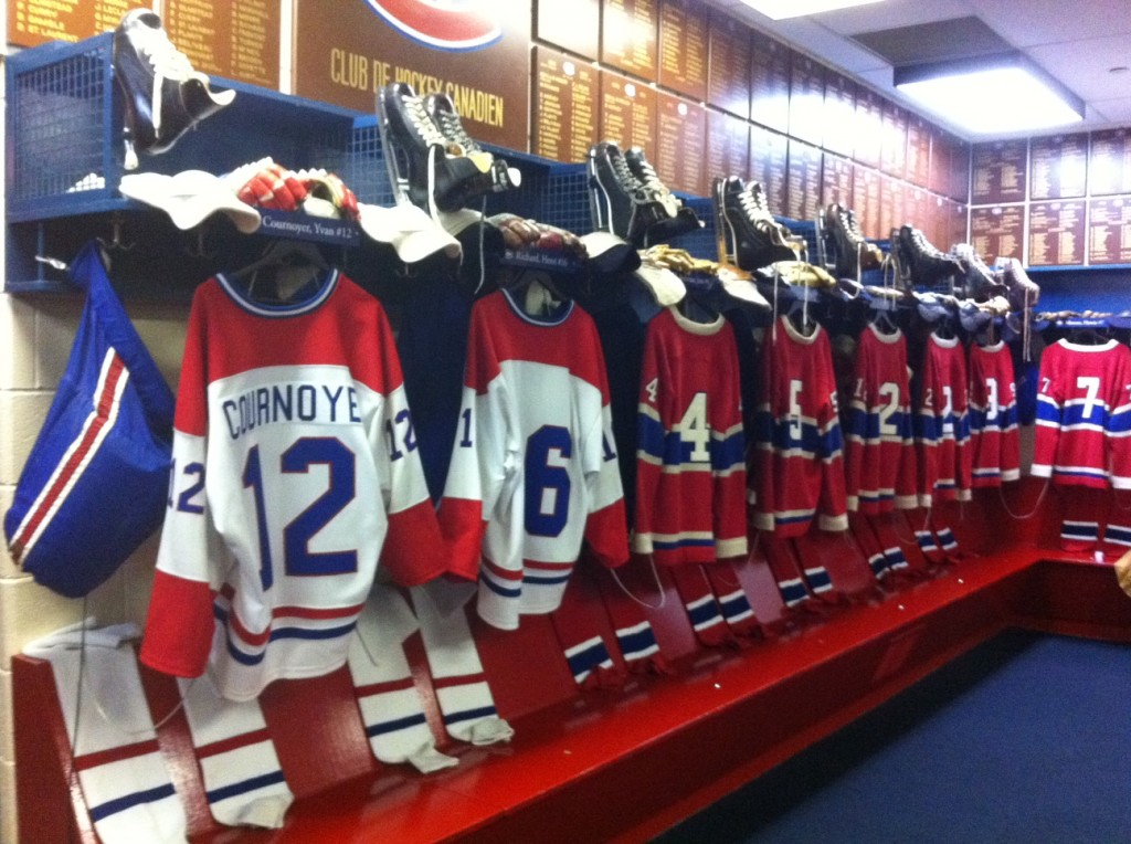 Hockey Hall of Fame's Montreal Canadiens Dressing Room Exhibit