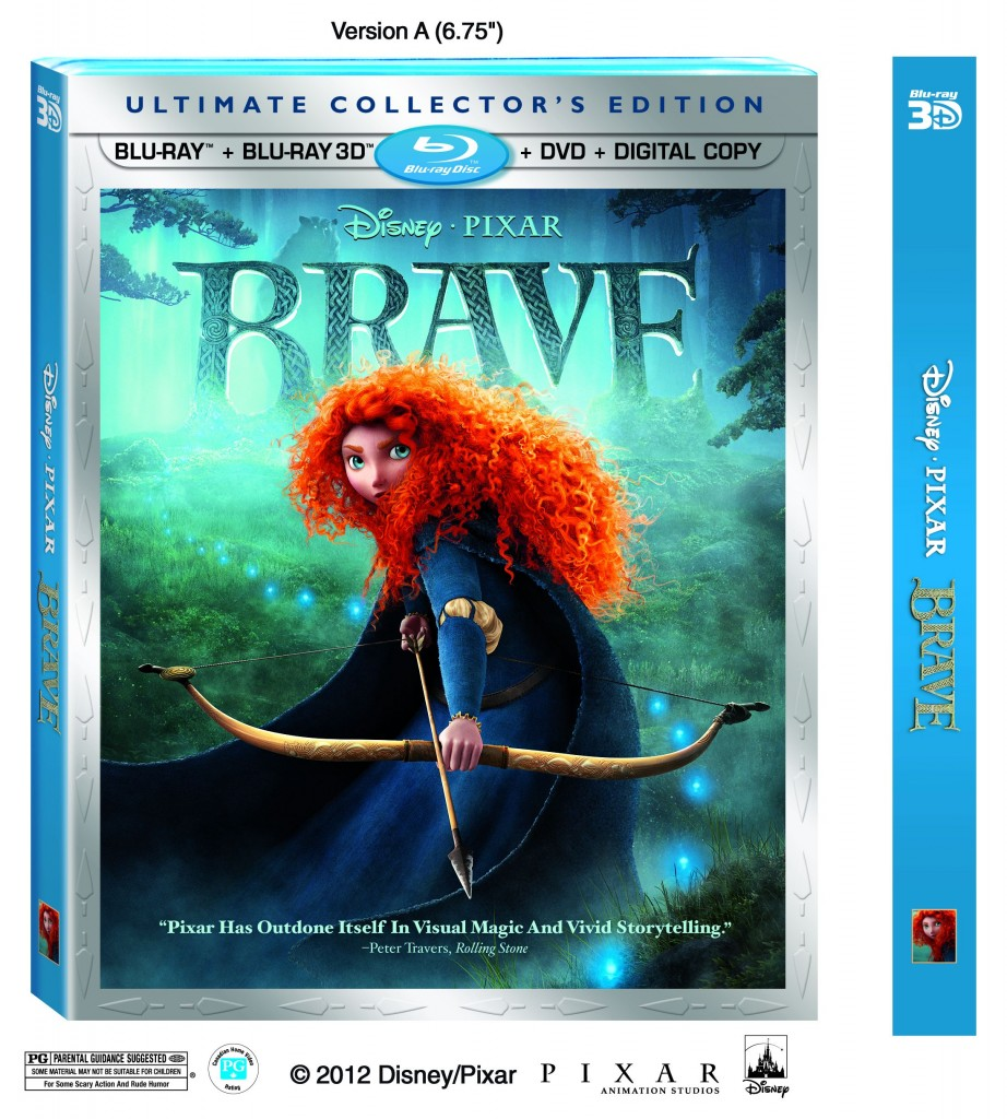 The #1 Animated Film of the Year, Disney/Pixar's Brave is Available on Blu-ray Combo Pack, Digital and On-Demand, Nov. 13, 2012