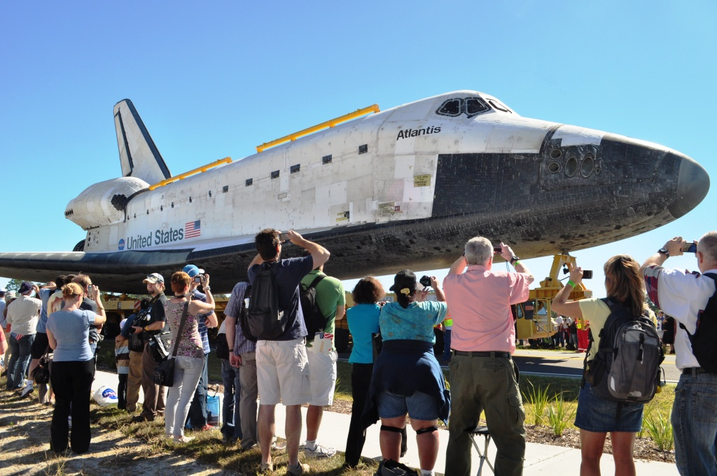 """That's one big spaceship!"" Overheard during the Atlantis Rollout at Kennedy Space Center, Nov. 2, 2012"