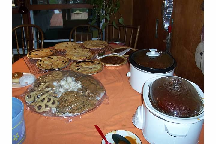 A Typical Mom Spread of Food