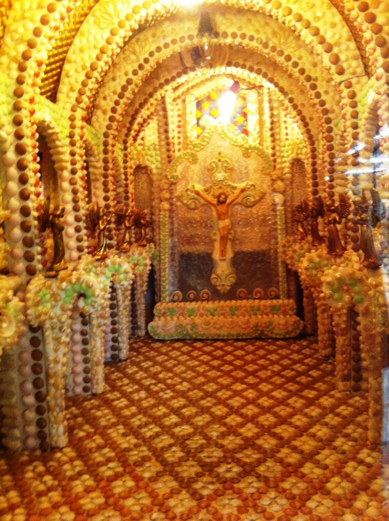 Replica of All Saints Church, Constructed in Shells. On Display at the Shell Factory, North Fort Myers, Fla.