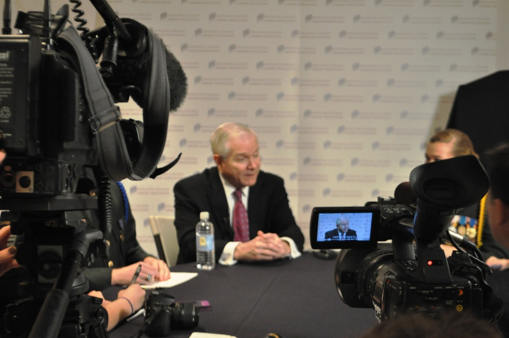 Former U.S. Secretary of Defense Robert Gates Talks Military, CIA in Sarasota, Fla.
