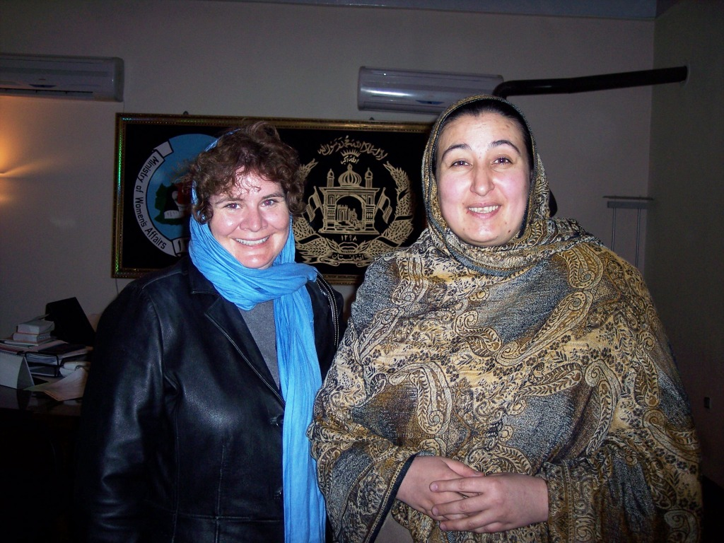 Me with the Afghanistan Minister of Women's Affairs. She Was Committed to Improving the Lives of Women. Kabul, March 2006