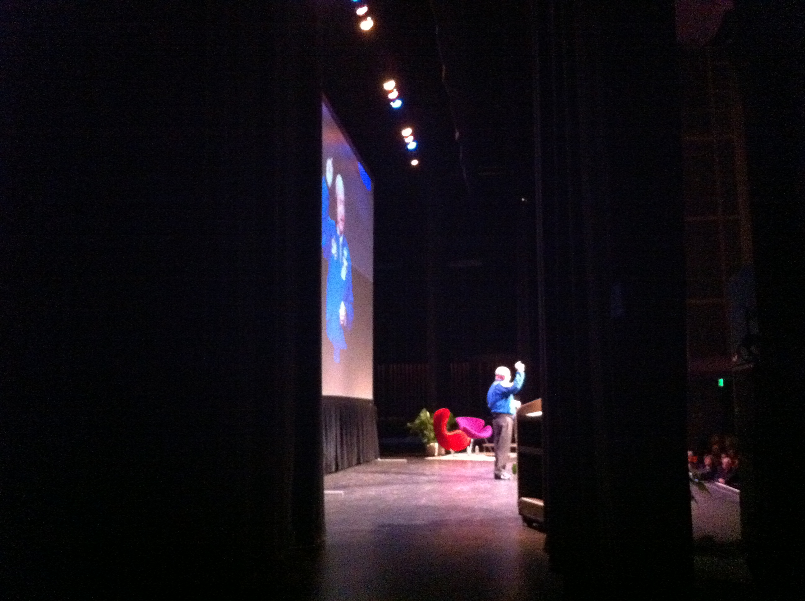 Capt. Mark Kelly Owning the Stage during the Ringling College Library Association's Town Hall Lecture in Sarasota, March 11, 2013