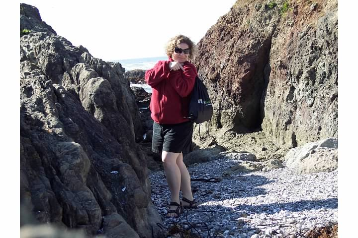 Of Course an Eclectic Gal Would Snap a Photo of Herself with Her TripAdvisor Bag, Calif. 2007