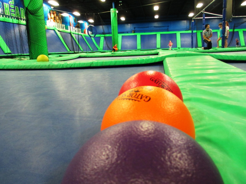 Dodgeball Anyone? You Can Play It at AirHeads Trampoline Arena in Orlando, Fla.