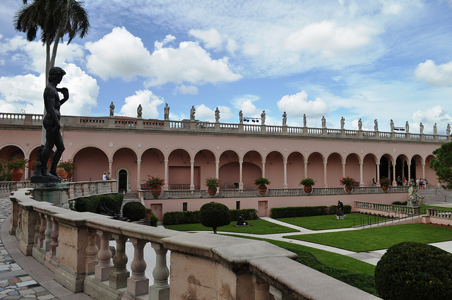 Courtyard of the Ringling Museum, Sarasota, Fla.