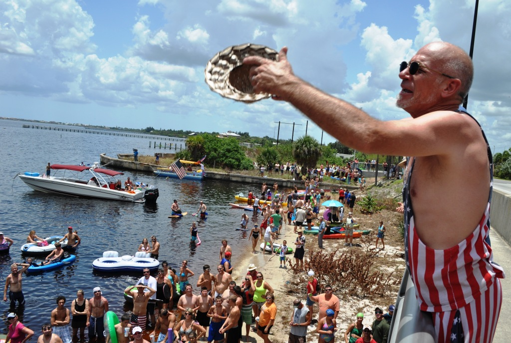 Southwest Florida's Quirkiest 4th of July Event is the Annual Charlotte Harbor Freedom Swim