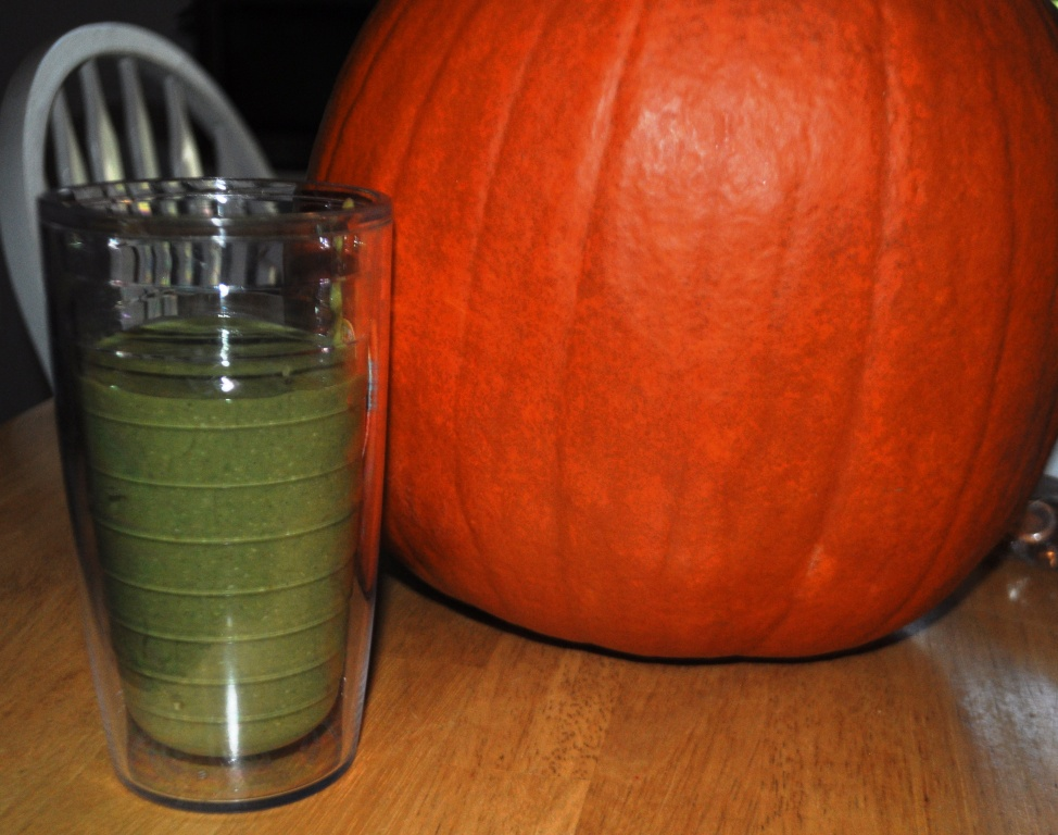 Green Pumpkin Spice Smoothie - Yum!