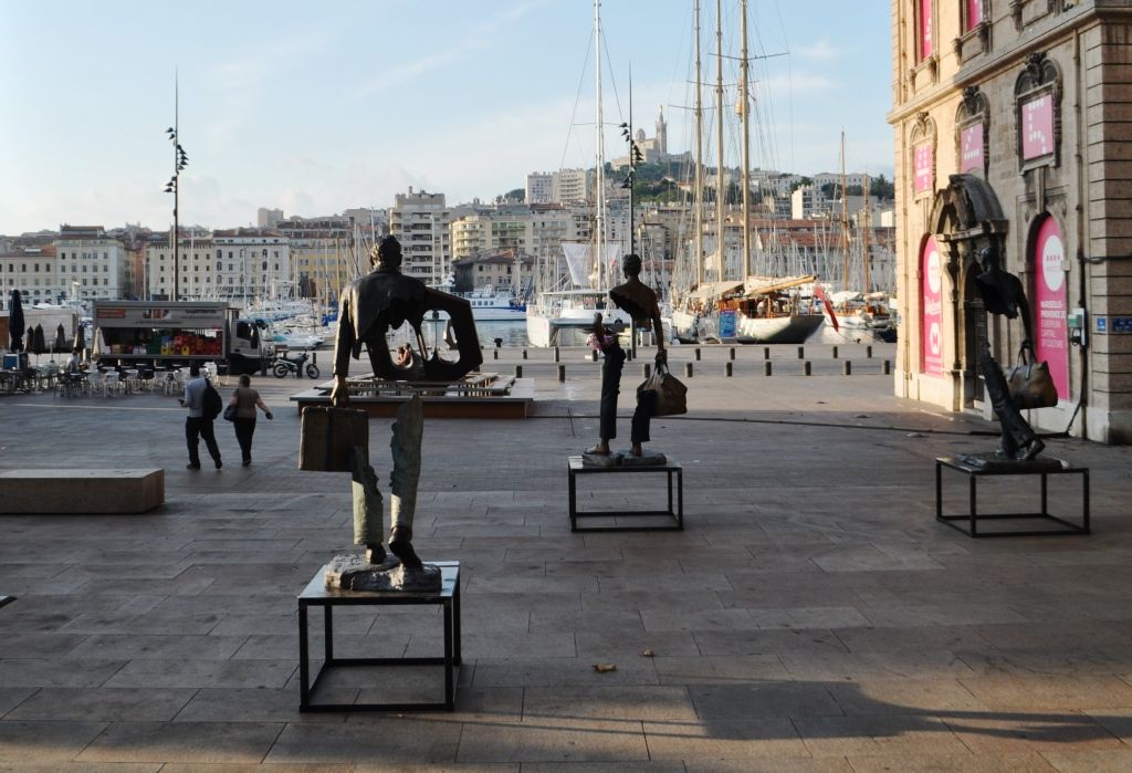 Sculptures in Marseille-Provence, France