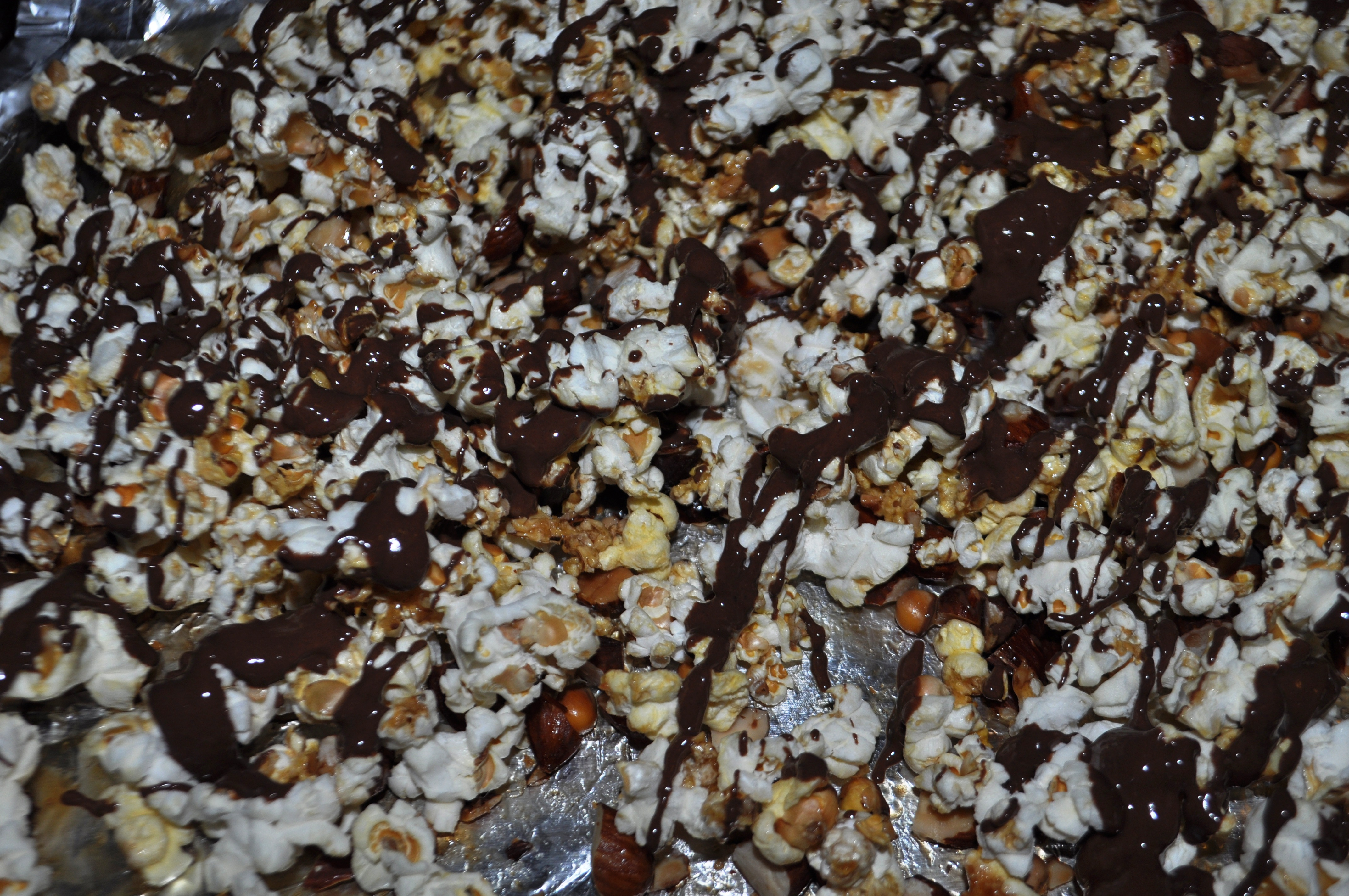 um! Wild Ophelia Chocolate with Maple Syrup, Chopped Almonds and Popcorn